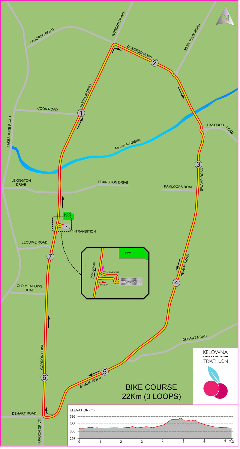 bike course map